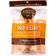 "Earth Animal No-Hide Chicken Chews 7"" Dog Treats, 2 count"