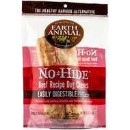 "Earth Animal No-Hide Beef Chews 7"" Dog Treats, 2 count"