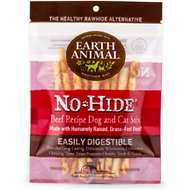 Earth Animal No-Hide Beef Stix Dog Treats, 10 count
