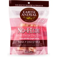 "Earth Animal No-Hide Salmon Chews 4"" Dog Treats, 2 count"