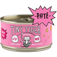 Tiny Tiger Salmon Recipe Grain-Free Pate Canned Cat Food, 3-oz, case of 24