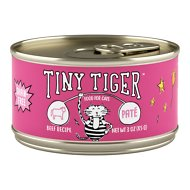 Tiny Tiger Pate Beef Recipe Grain-Free Canned Cat Food, 3-oz, case of 24