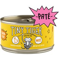 Tiny Tiger Chicken Recipe Grain-Free Pate Canned Cat Food, 3-oz, case of 24