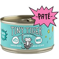 Tiny Tiger Pate Seafood Recipe Grain-Free Canned Cat Food, 3-oz, case of 24