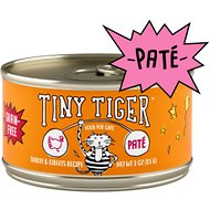 Tiny Tiger Turkey and Giblets Recipe Grain-Free Pate Canned Cat Food, 3-oz, case of 24