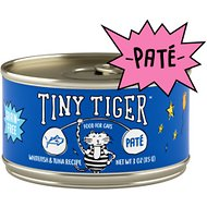 Tiny Tiger Whitefish and Tuna Recipe Grain-Free Pate Canned Cat Food, 3-oz, case of 24
