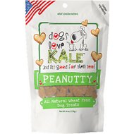 Dogs Love Kale Peanutty Wheat & Gluten Free Dog Treats, 6-oz bag