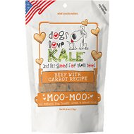 Dogs Love Kale Moo-Moo Beef & Carrot Grain & Wheat Free Dog Treats, 6-oz bag