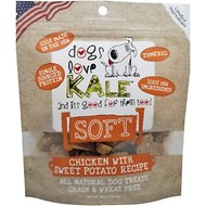 Dogs Love Kale Soft Chicken With Sweet Potato Dog Treats, 4-oz bag