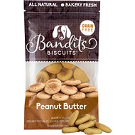 Bandit's Biscuits Peanut Butter Grain-Free Dog Treats, 10-oz bag