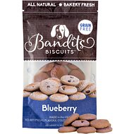 Bandit's Biscuits Blueberry Grain-Free Dog Treats, 10-oz bag