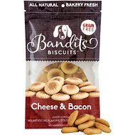 Bandit's Biscuits Cheese & Bacon Grain-Free Dog Treats, 10-oz bag