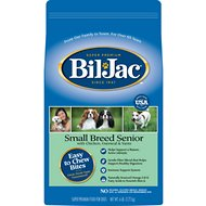 Bil-Jac Small Breed Senior Chicken, Oatmeal & Yam Recipe Dry Dog Food, 6-lb bag
