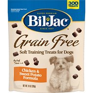 Bil-Jac Grain-Free Chicken & Sweet Potato Training Dog Treats, 10-oz bag