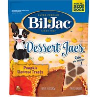Bil-Jac Dessert Jacs Pumpkin Flavored Dog Treats, 10-oz bag