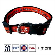 Pets First MLB Dog Collar, Baltimore Orioles, Medium
