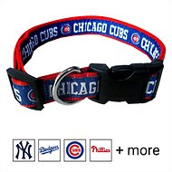 Pets First MLB Dog Collar, Chicago Cubs, Medium
