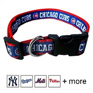 Pets First MLB Dog Collar, Chicago Cubs, Large
