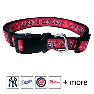 Pets First MLB Dog Collar, Boston Red Sox, Medium