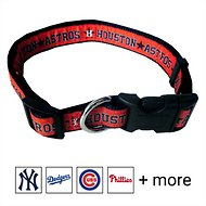 Pets First MLB Dog Collar, Houston Astros, Large