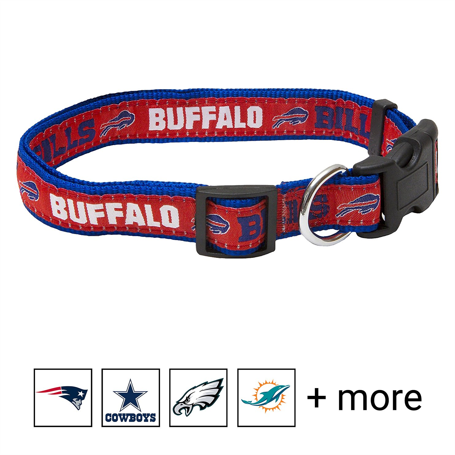 lowest price 5903f ee31a Pets First NFL Dog Collar, Buffalo Bills, Small
