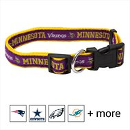 Pets First NFL Dog Collar, Minnesota Vikings, Large