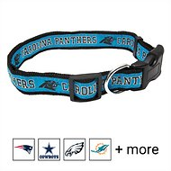 Pets First Carolina Panthers Dog Collar, Small