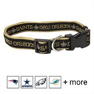 Pets First NFL Dog Collar, New Orleans Saints, Large