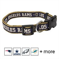 Pets First NFL Dog Collar, Los Angeles Rams, Large