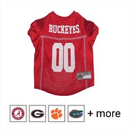 Pets First NCAA Dog & Cat Mesh Jersey, Ohio State Buckeyes, Large