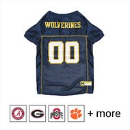 Pets First NCAA Dog & Cat Mesh Jersey, Michigan Wolverines, Small