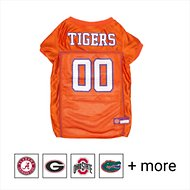 Pets First NCAA Dog & Cat Mesh Jersey, Clemson Tigers, Small