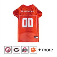 Pets First Miami Hurricanes Mesh Dog Jersey, X-Small