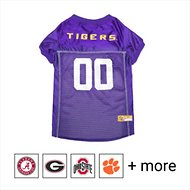 Pets First NCAA Dog & Cat Mesh Jersey, Louisiana State Tigers, Large