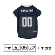 Pets First NFL Dog & Cat Mesh Jersey, Los Angeles Chargers, Medium