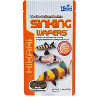 Hikari Sinking Wafers Bottom Feeders Fish Food, 3.88-oz pouch