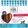I and Love and You Cow-Boom! Strips Beef Gullet Dog Chews, 6-in