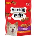 Milk-Bone Puffs Bacon & Peanut Butter Flavors Crunchy Dog Treats, Medium