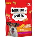 Milk-Bone Puffs Chicken & Cheddar Flavors Crunchy Dog Treats, Mini