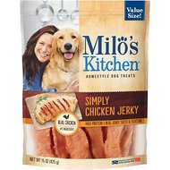 Milo's Kitchen Simply Chicken Jerky Dog Treats, 15-oz bag