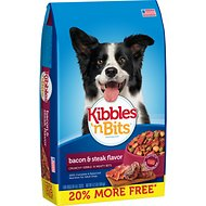 Kibbles 'n Bits Bacon & Steak Flavor Dry Dog Food, 4.2-lb bag
