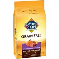 Nature's Recipe Grain-Free Lamb, Sweet Potato & Pumpkin Recipe Dry Dog Food, 4-lb bag