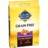 Nature's Recipe Grain-Free Lamb, Sweet Potato & Pumpkin Recipe Dry Dog Food, 12-lb bag