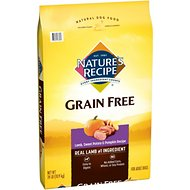 Nature's Recipe Grain-Free Lamb, Sweet Potato & Pumpkin Recipe Dry Dog Food, 24-lb bag