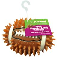 Gnawsome Squeak & Light LED Football Dog Toy, Color Varies, Small