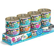 BFF Oh My Gravy! Rainbow Road Variety Pack Grain-Free Canned Cat Food, 2.8-oz, pack of 12