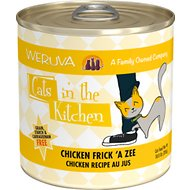 Weruva Cats in the Kitchen Chicken Frick 'A Zee Chicken Recipe Au Jus Grain-Free Canned Cat Food, 10-oz, case of 12