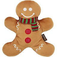 P.L.A.Y. Pet Lifestyle and You Holiday Classic Holly Jolly Gingerbread Man Plush Dog Toy