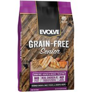 Evolve Grain-Free Deboned Chicken, Sweet Potato & Chickpea Senior Formula Dry Dog Food, 14-lb bag