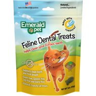 Emerald Pet Feline Dental Treats with Turducky Cat Treats, 3-oz bag